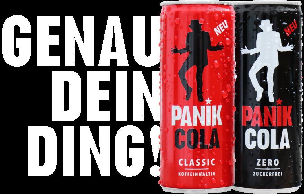 PANIK COLA Classic | PANIK COLA Zero | Inspiriert von Udo Lindenberg