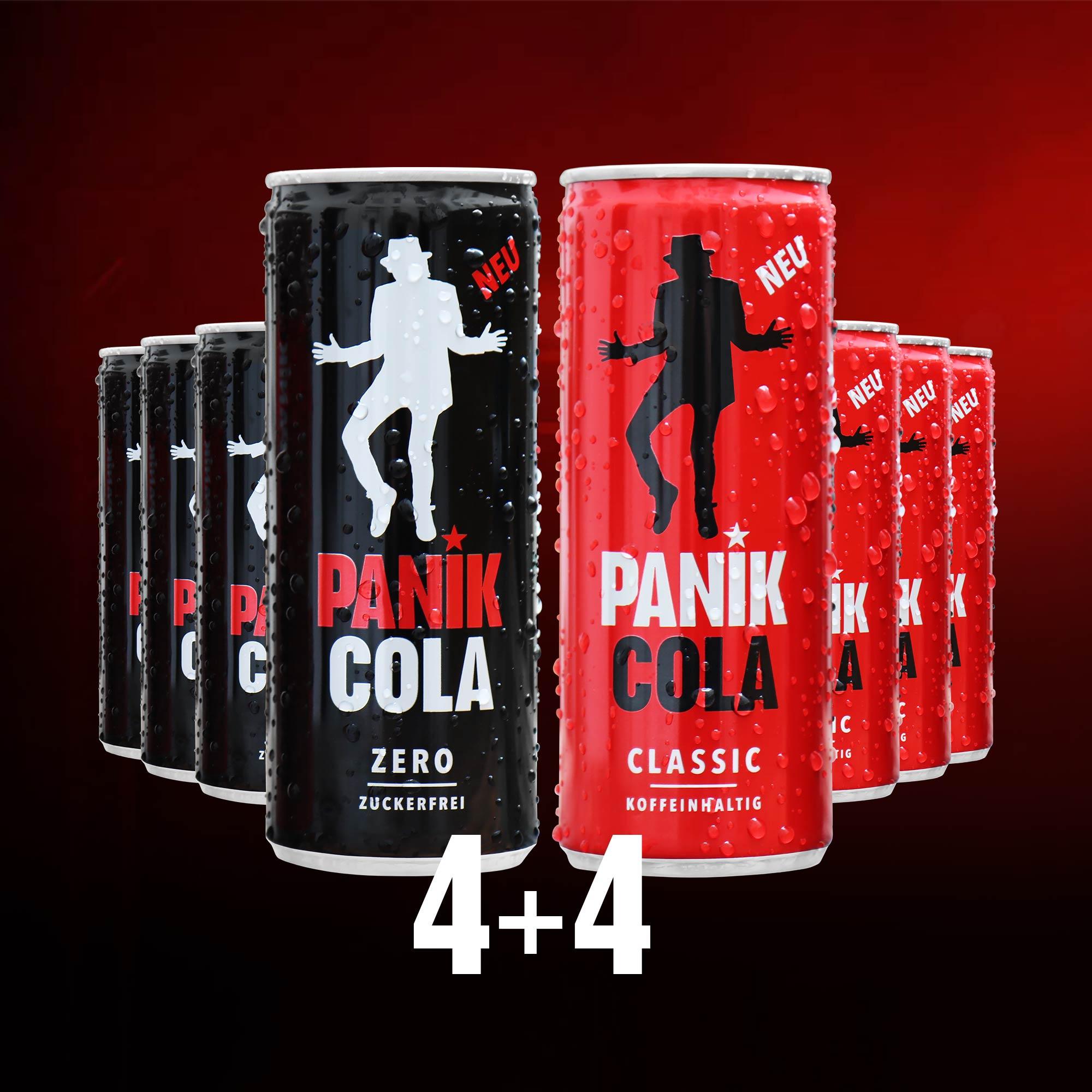 PANIK COLA Classic / Zero kaufen   PANIK COLA Zero   Inspiriert von Udo Lindenberg
